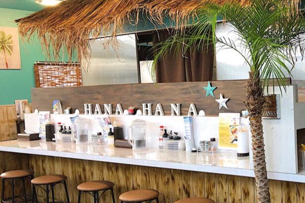 カウンター席 大分市青崎 南国kitchen HANAHANA 除菌100店舗計画SAKAI株式会社